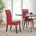 Magic Contemporary Red Bonded Leather Dining Chairs