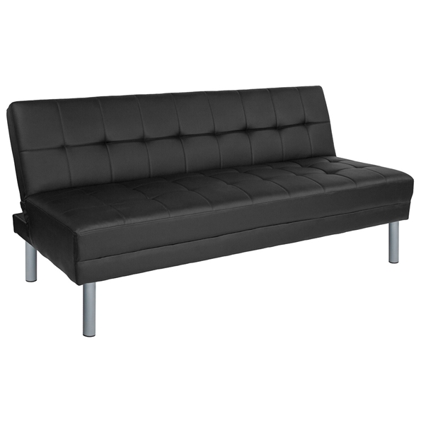 Magna Black Modern Sleeper Sofa