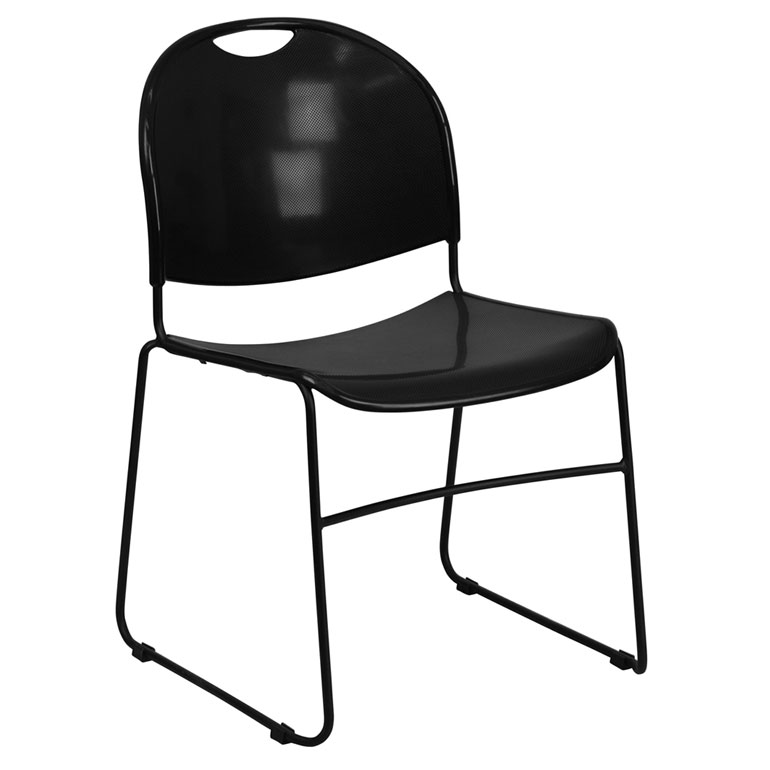 Magnus Modern Stacking Guest Chair in Black