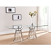 Maine Contemporary Rectangular Glass Dining Table
