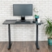 Malibu 48 In Modern Black Oak Electric Up/Down Desk