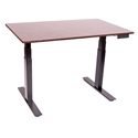 Malibu 60 In. Height Adjustable Desk - Black + Dark Walnut