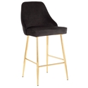 Malta Modern Black + Gold Counter Stool