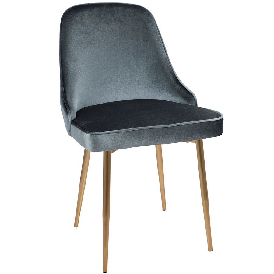 Modern Side Chairs Malta Blue Gold Dining Chair Eurway