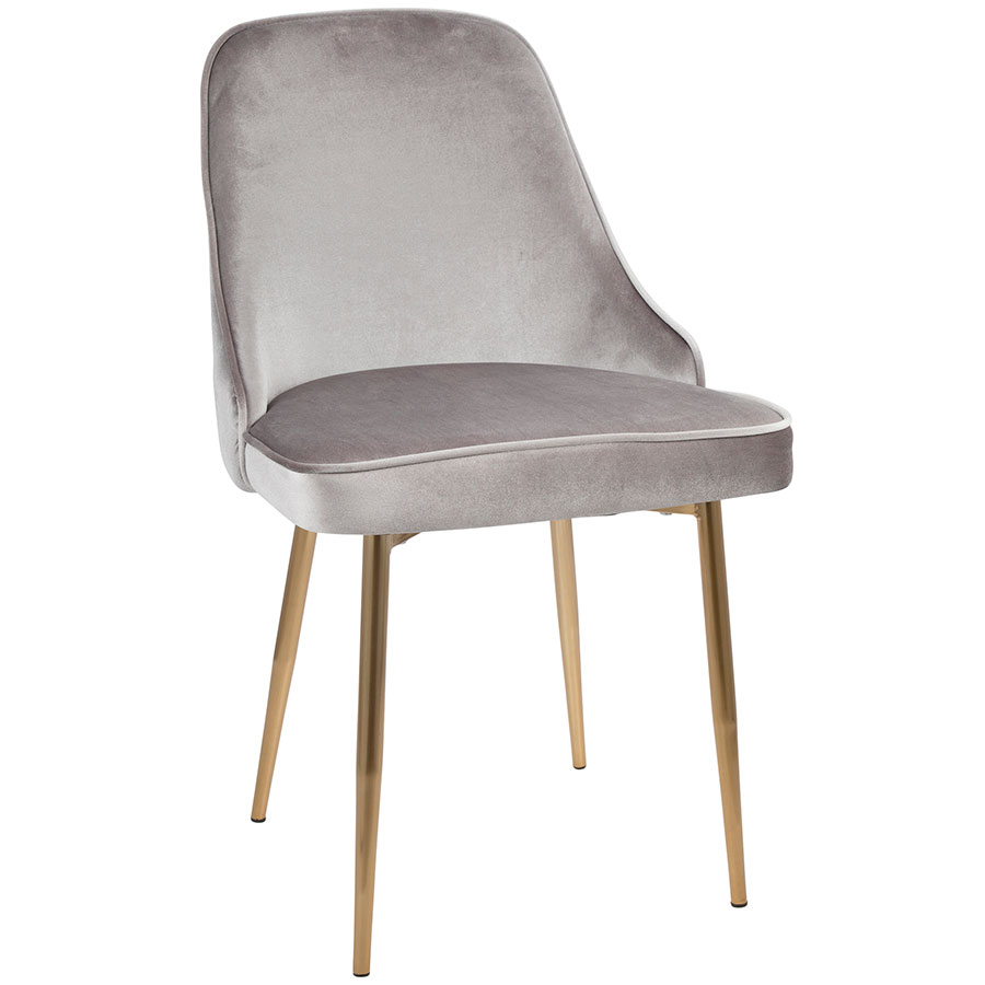 Modern Side Chairs Malta Silver Gold Dining Chair Eurway