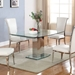 Manchester Contemporary Glass Extension Table - Closed