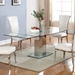 Manchester Contemporary Glass Extension Table