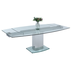 Manchester Modern Glass Extension Dining Table