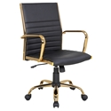 Manchester Modern Office Chair in Black + Gold