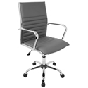 Manchester Modern Office Chair in Gray
