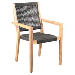 Manhattan Modern Outdoor Acacia Wood Dining Chair