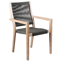 Manhattan Modern Outdoor Eucalyptus Wood Dining Chair
