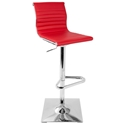 Manheim Modern Red Adjustable Stool