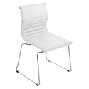 Manheim White Modern Side Chair