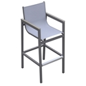 Mansfield Modern Gray Outdoor Bar Stool