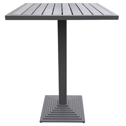 Mansfield Modern Gray Outdoor Bar Table