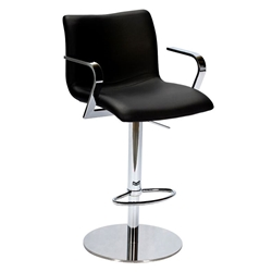 Marcellus Black Adjustable Modern Stool