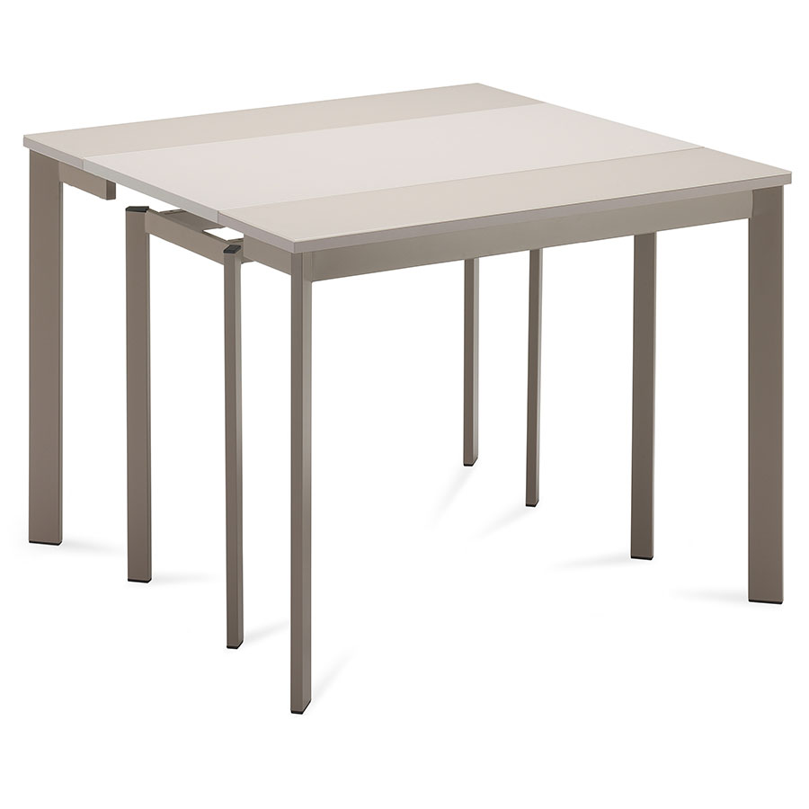 marcia modern taupe extension dining table  eurway -  marcia taupe contemporary extension console  dining table