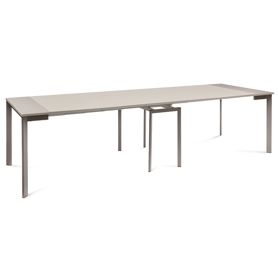 marcia modern taupe extension dining table | eurway
