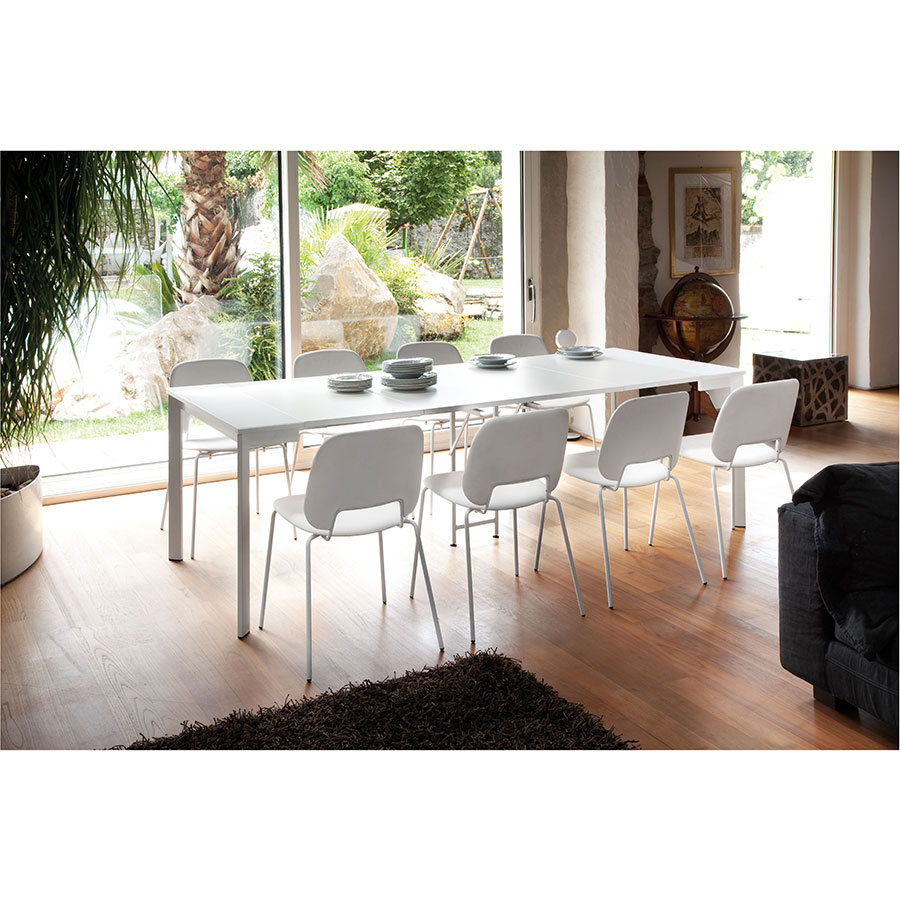 Marcia White Modern Extension Dining Table