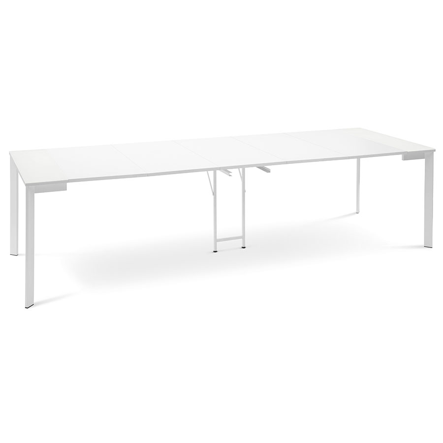 Marcia modern white extension dining table eurway marcia white modern extension dining console table geotapseo Image collections