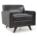 Wilson Modern Charcoal Genuine Leather Chair