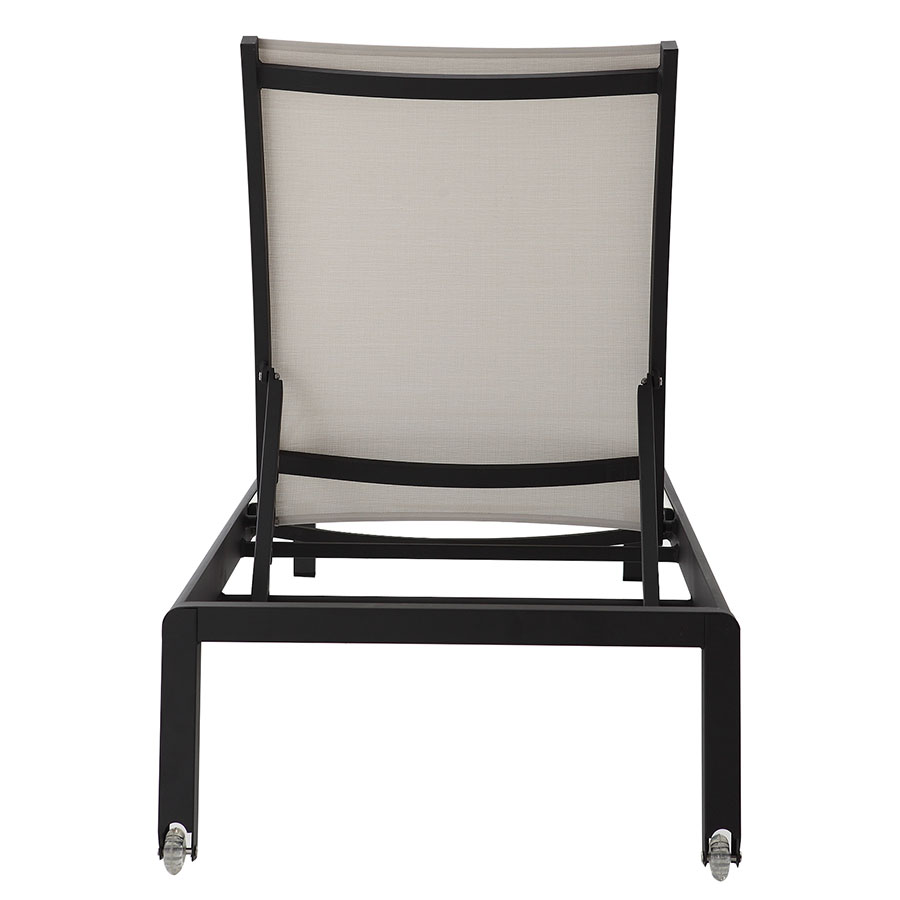Marge Black + White Contemporary Outdoor Sun Lounger