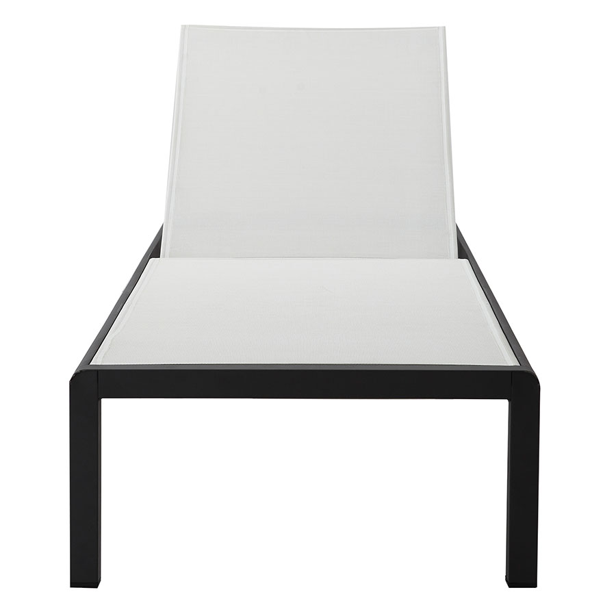 Marge Black + White Modern Outdoor Chaise