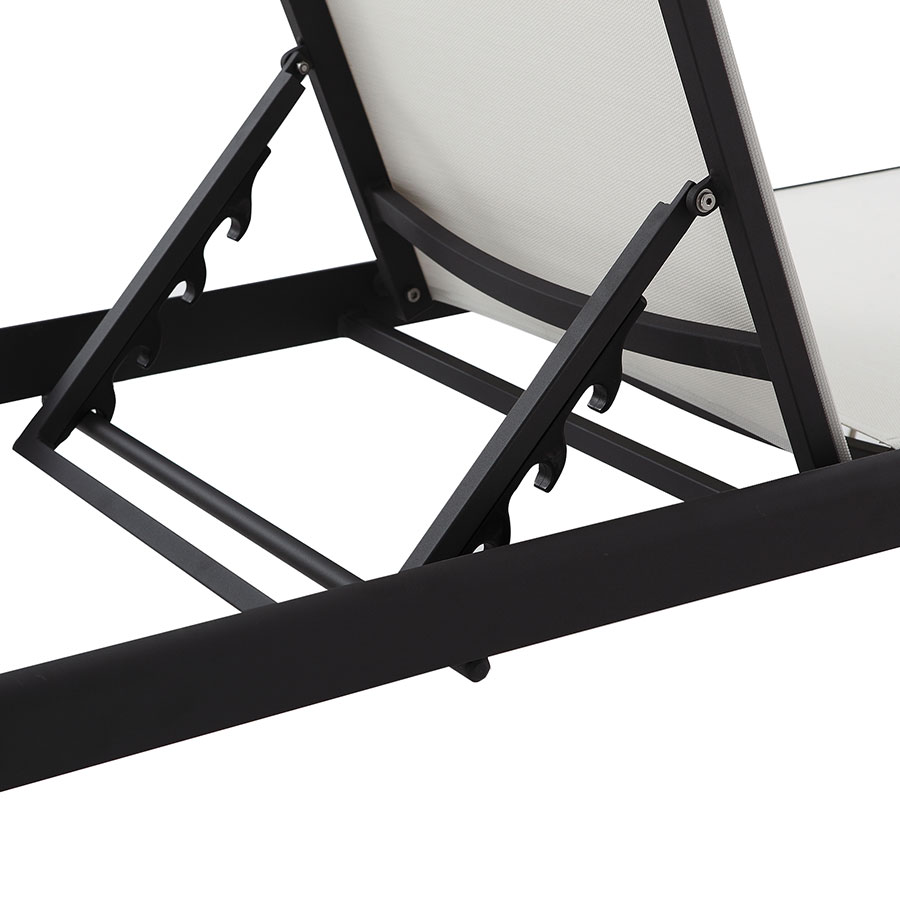 Marge Black + White Modern Outdoor Sun Lounger