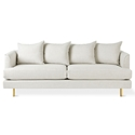 Margot Modern Sofa in Thea Moonstone and Brass Legs by Gus* Modern
