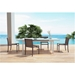 Maribella White + Brown Powder Coated Aluminum Modern Outdoor Dining Set