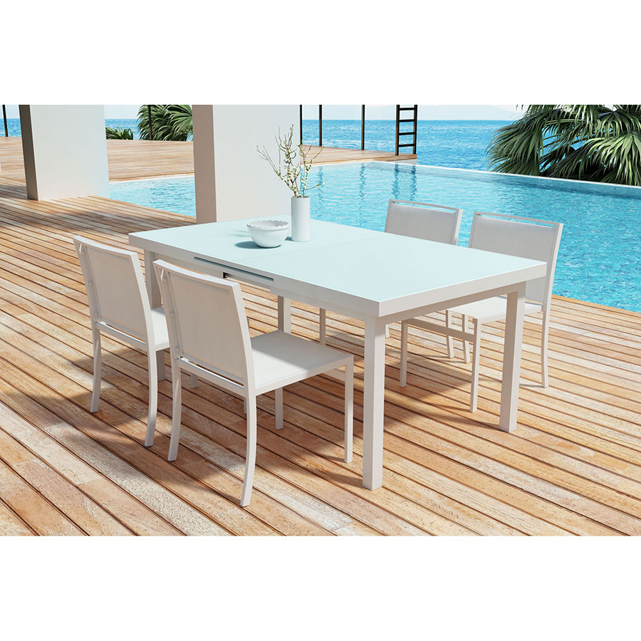 ... Table; Maribella White Modern Outdoor Dining Set ...