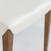 Meryll White + Walnut Contemporary Side Chair Detail