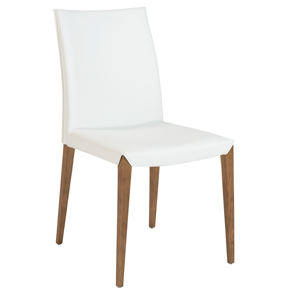 Meryll White Modern Dining Chair