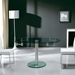 Marina Modern Clear Glass + Chrome Oval Extension Dining Table