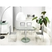 Marina Clear Glass + Chrome Modern Oval Extension Dining Table