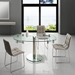 Marina Clear Glass + Chrome Oval Extension Dining Table