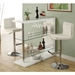 Mario Glossy White Contemporary Home Bar