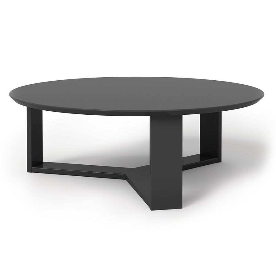 Markel modern black coffee table eurway furniture for Furniture of america inomata geometric high gloss coffee table
