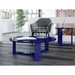 Markel Modern Midnight Blue Cocktail Table