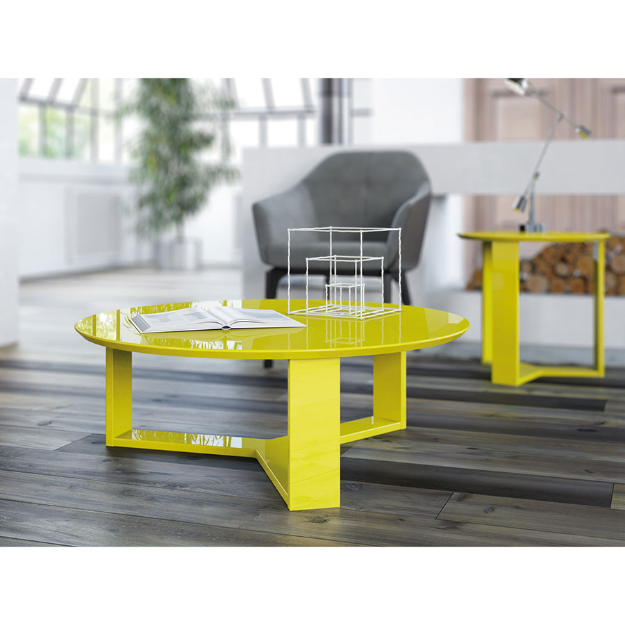 coffee table yellow