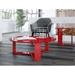 Markel Modern Red Cocktail Table
