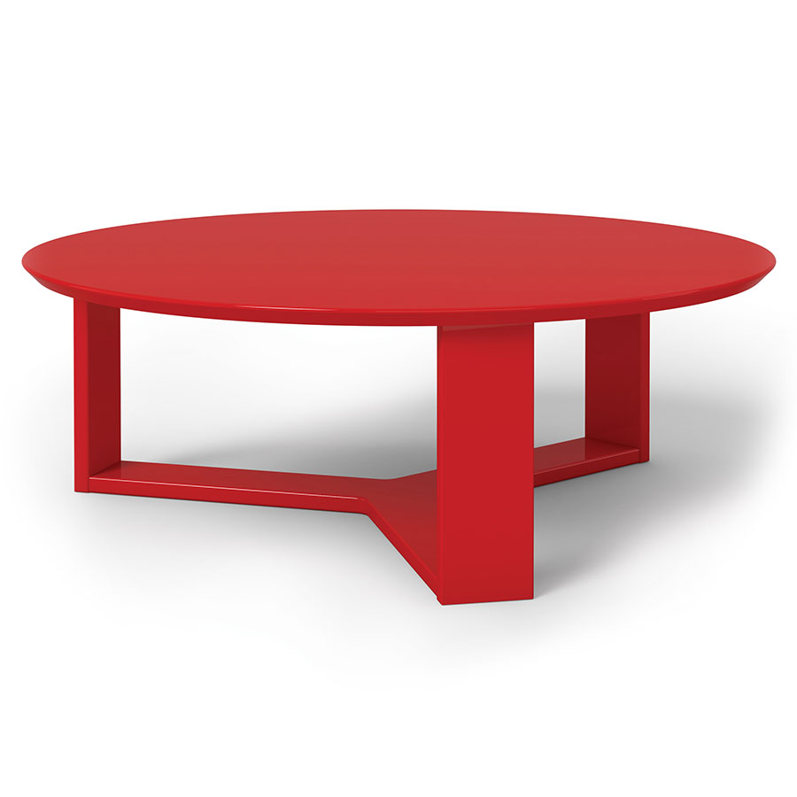 Markel Modern Red Coffee Table