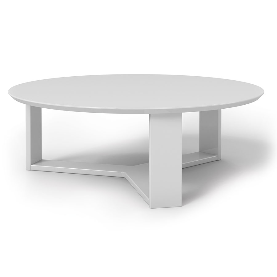 Mdf Cheap Price Coffee Table White High Gloss Center Table: Markel Modern White Coffee Table