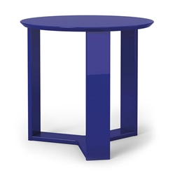Markel Modern Blue End Table