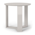 Markel Modern Off White End Table