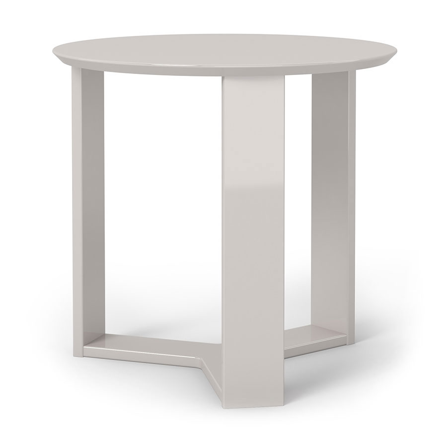Mdf Cheap Price Coffee Table White High Gloss Center Table: Markel Modern Off White End Table