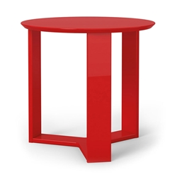 Markel Modern Red End Table