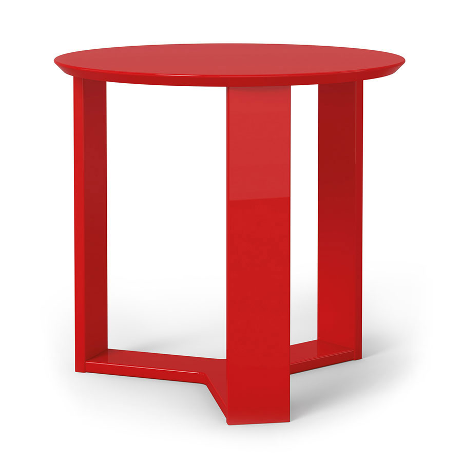 Markel modern red end table eurway furniture for Red side table