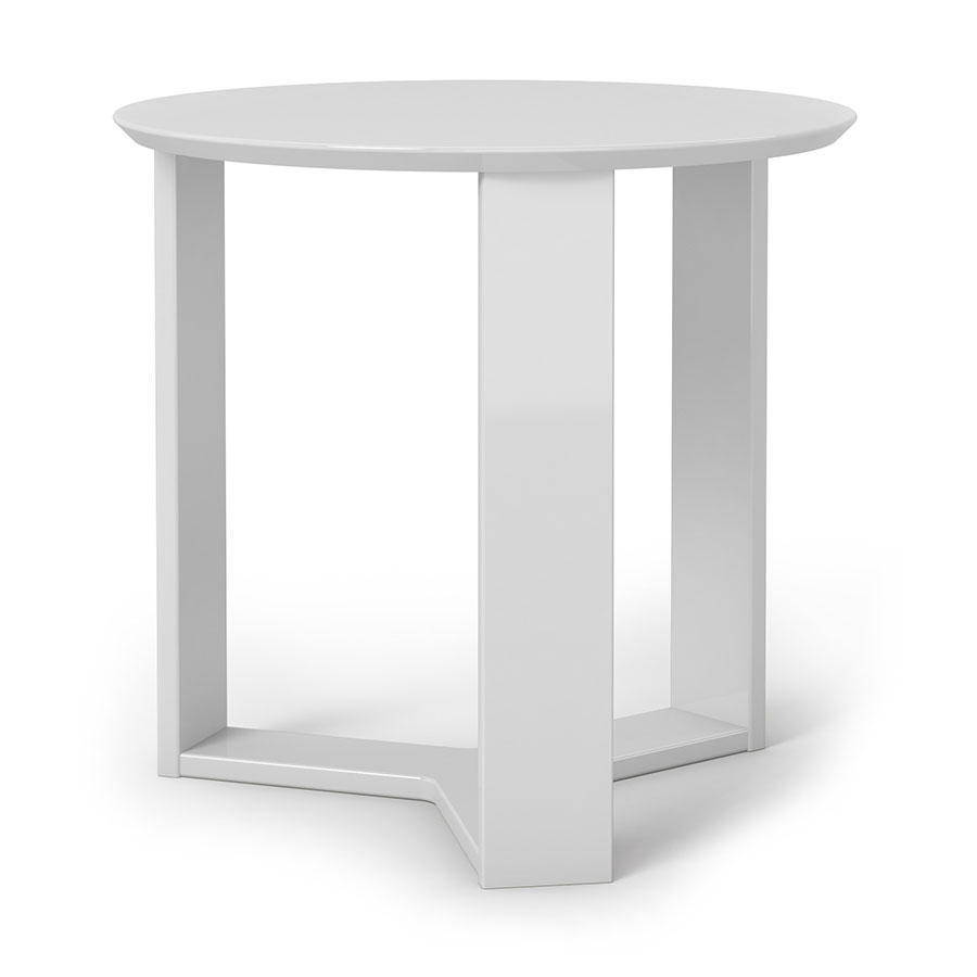 Markel Modern White End Table